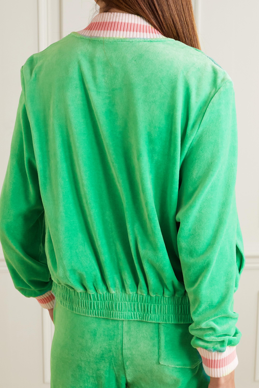 Casablanca Appliquéd velour bomber jacket