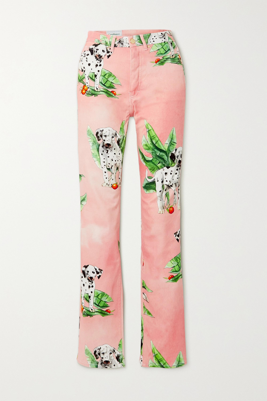 Casablanca Printed mid-rise straight-leg jeans