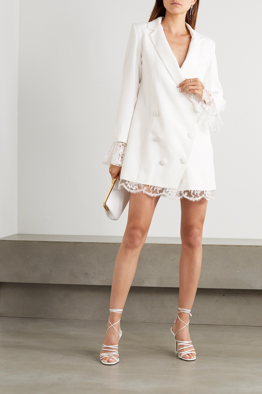 Rime Arodaky Lui lace-trimmed crepe mini dress