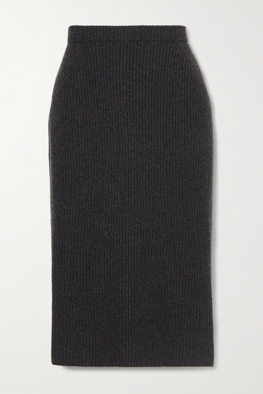 Loro Piana Ribbed cashmere midi skirt