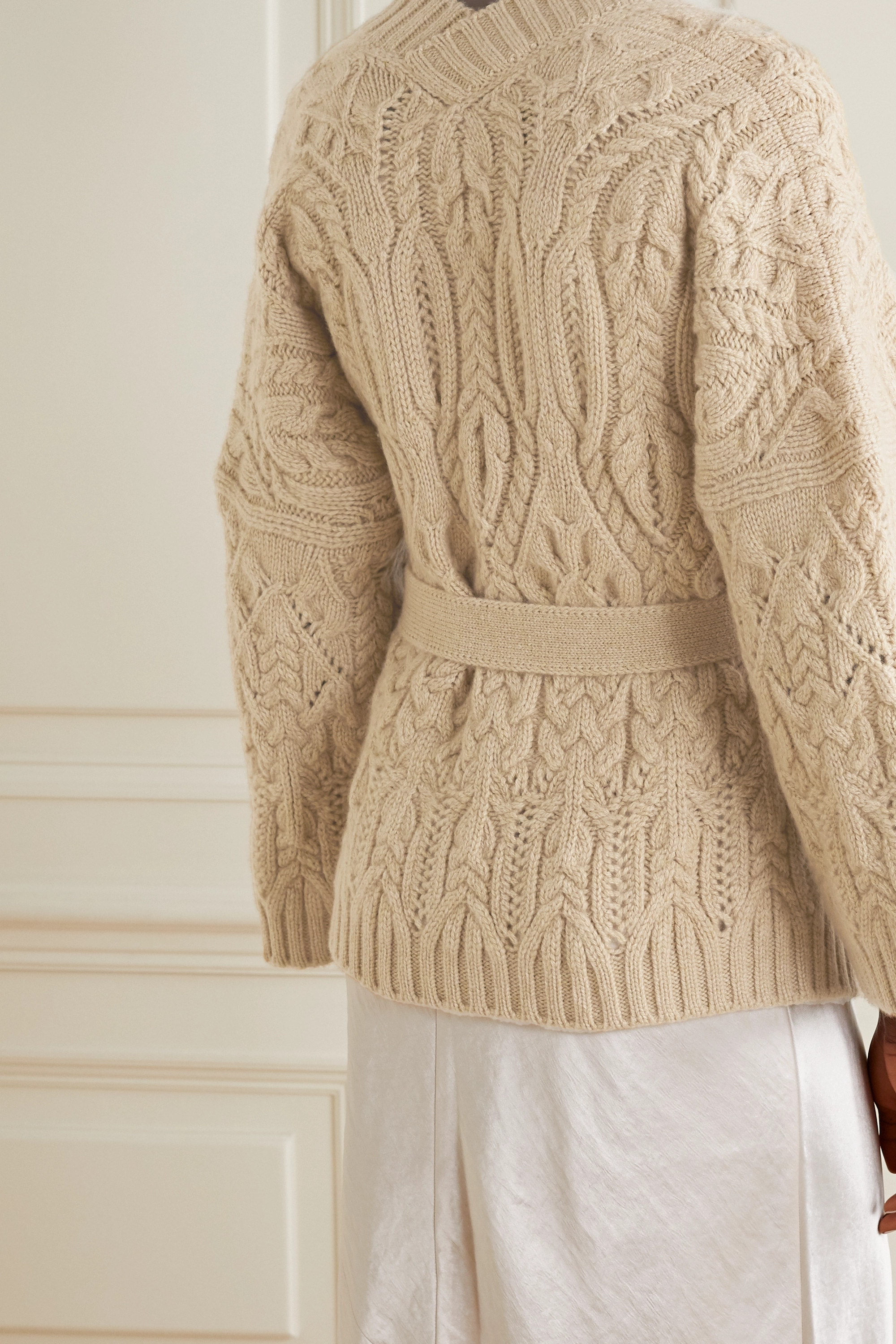 Loro Piana Cable-knit cashmere cardigan