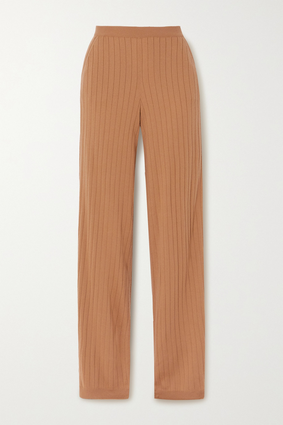 Loro Piana Times Square ribbed cashmere straight-leg pants