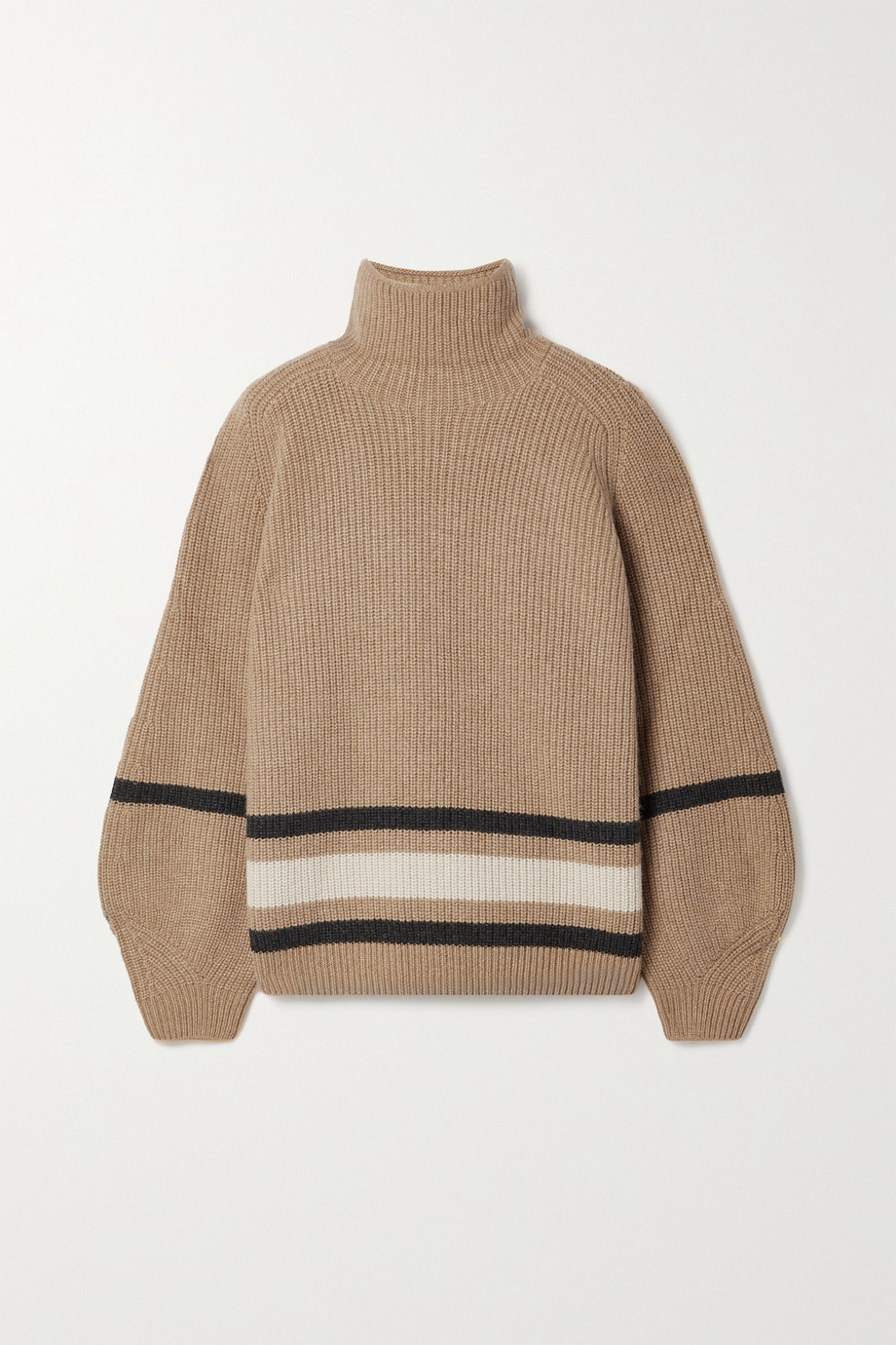 Loro Piana Oversized striped cashmere turtleneck sweater