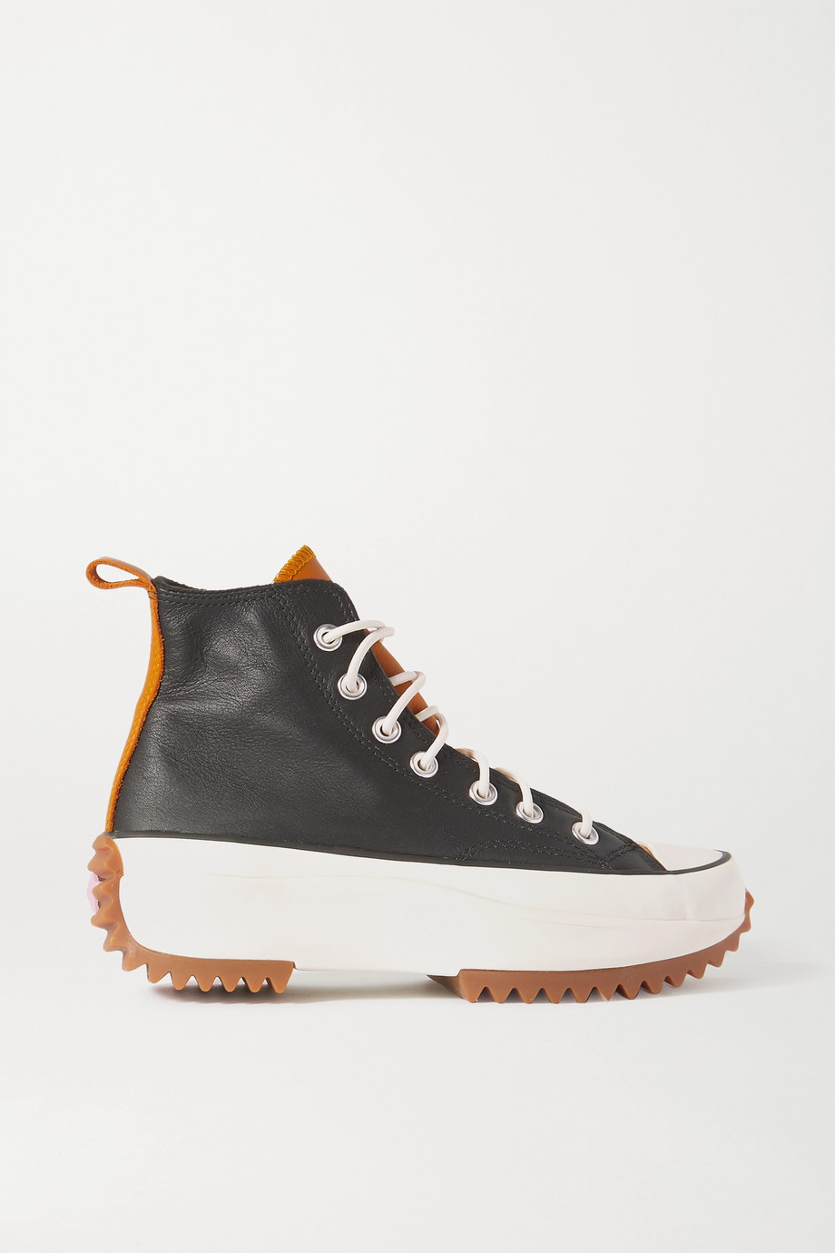Converse Run Star Hike High-Top-Sneakers aus Leder mit Plateau