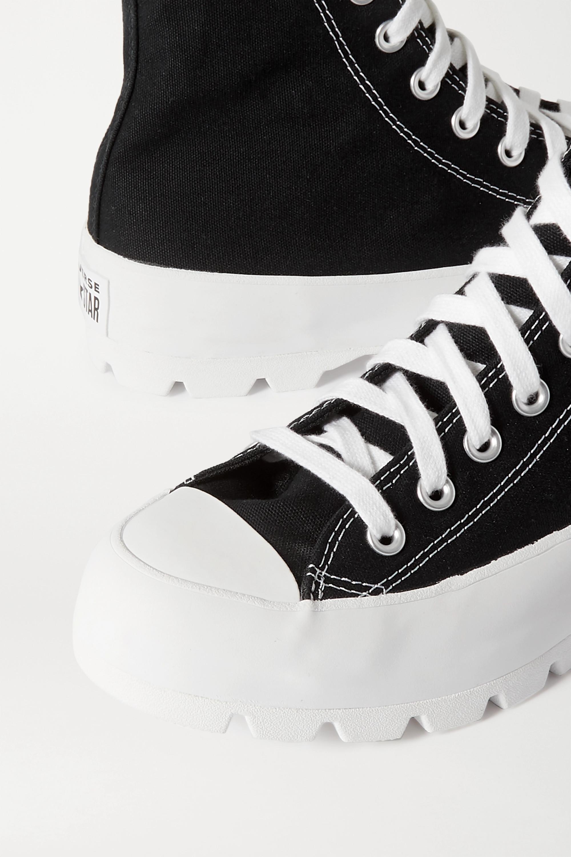 converse high top platform black
