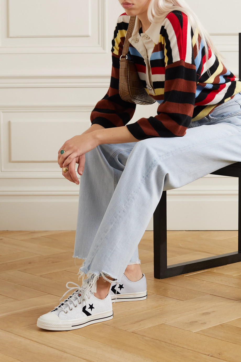 Converse Star Player OX Sneakers aus Frottee in Colour-Block-Optik