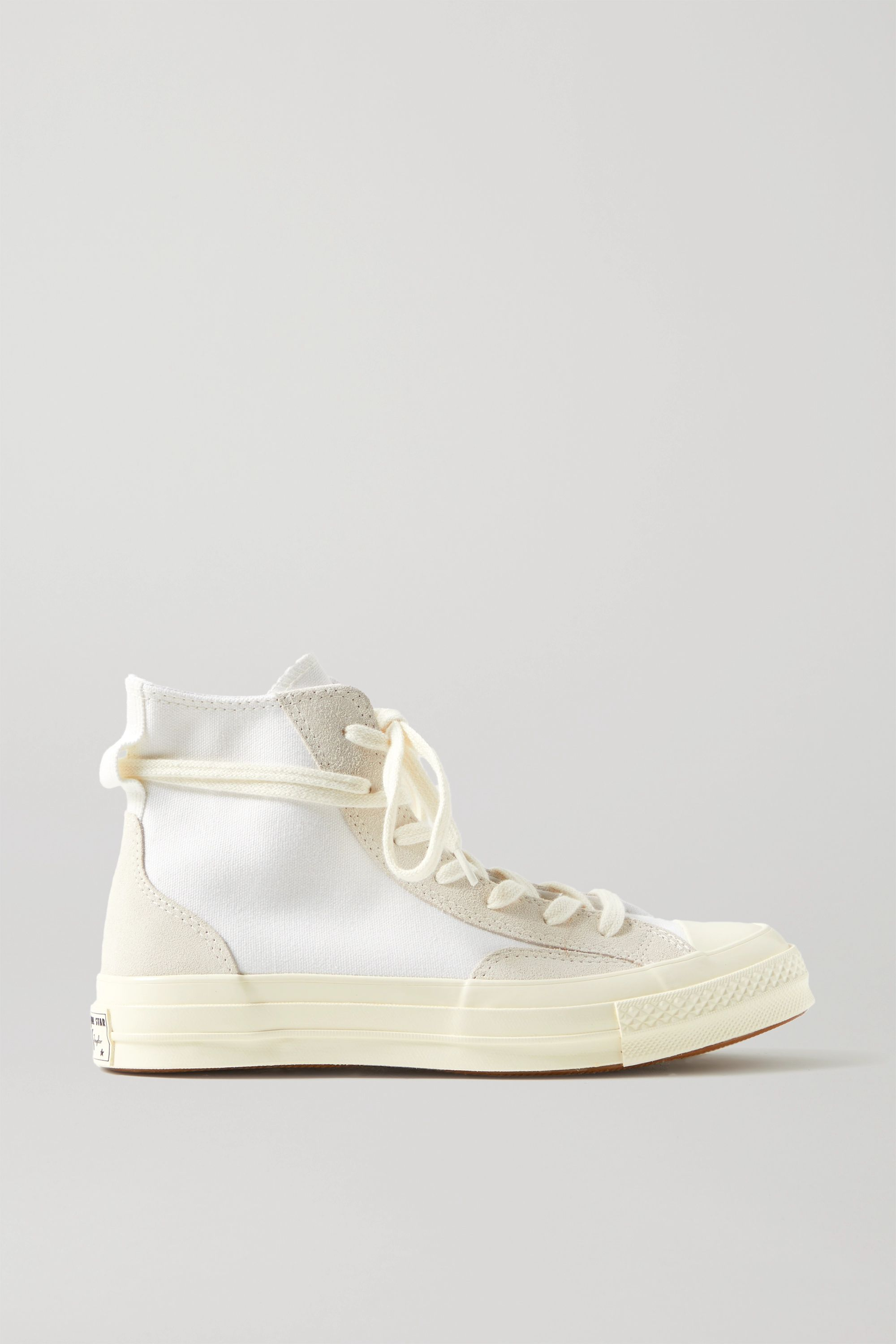Converse Final Club Chuck 70 suede-trimmed organic canvas high-top sneakers