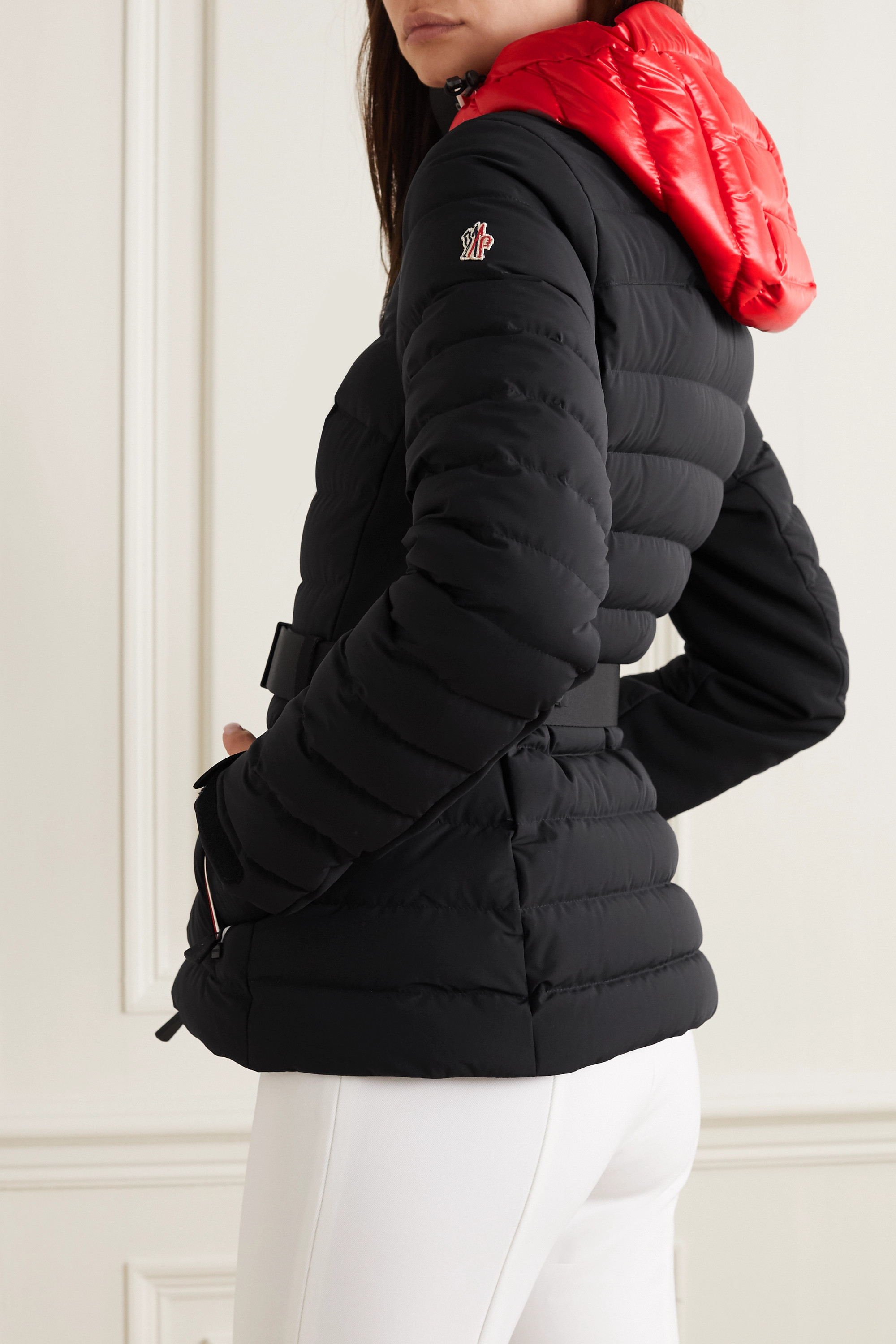 Moncler Grenoble Bruche hooded belted quilted shell down jacket