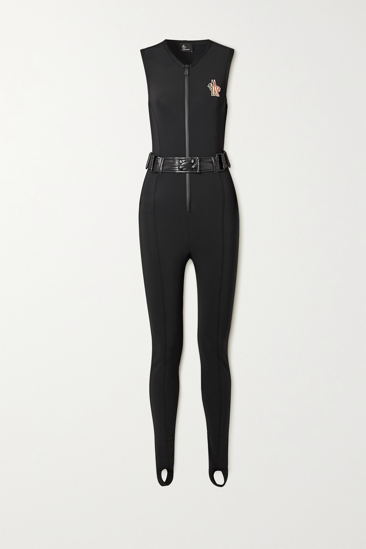 Moncler Grenoble - Shell-trimmed belted neoprene ski suit