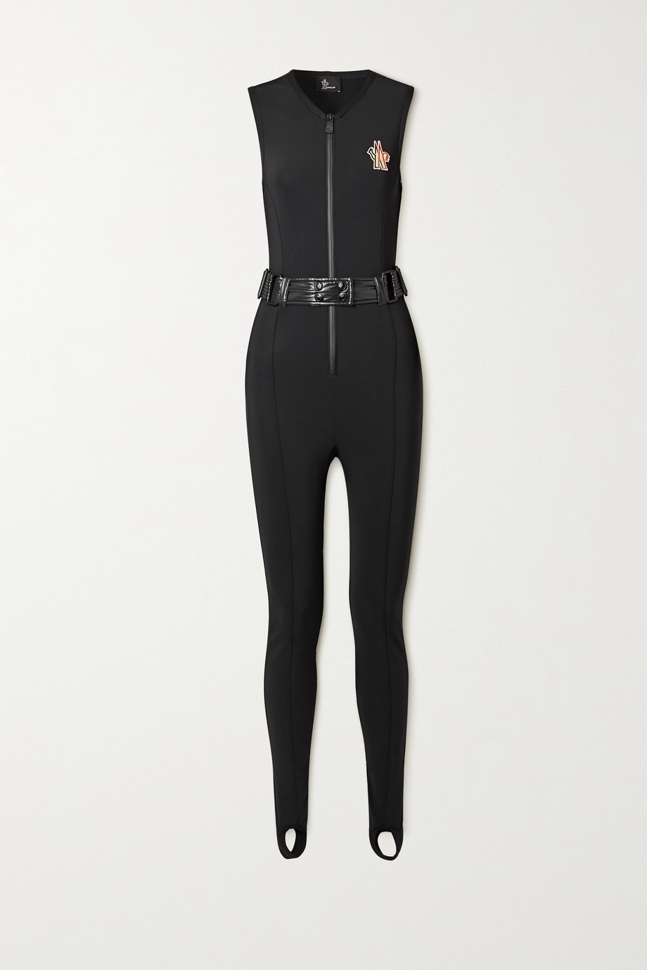 Moncler Grenoble Shell-trimmed belted neoprene ski suit
