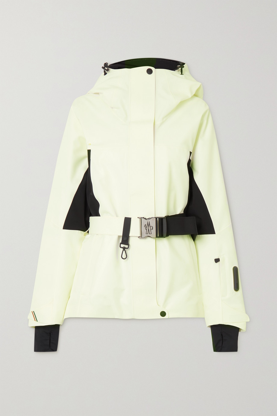 Moncler Grenoble Paquier belted two-tone padded shell down jacket
