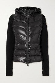 Moncler Grenoble Maglia hooded quilted shell and jersey down jacket