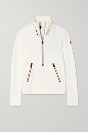 Moncler Grenoble Shell-trimmed fleece top