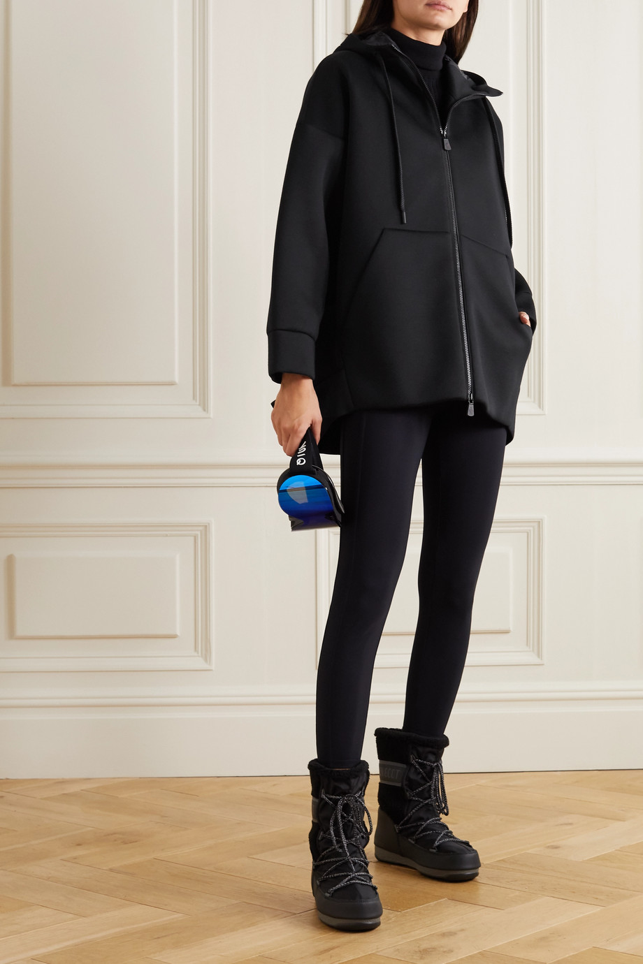 Moncler Grenoble Kapuzenjacke aus Neopren aus Modal mit Applikation