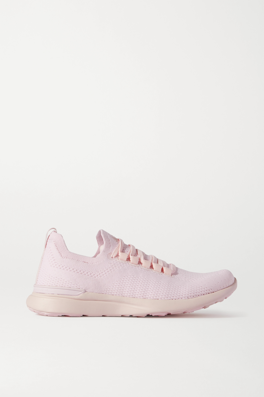 Pink TechLoom Breeze mesh sneakers