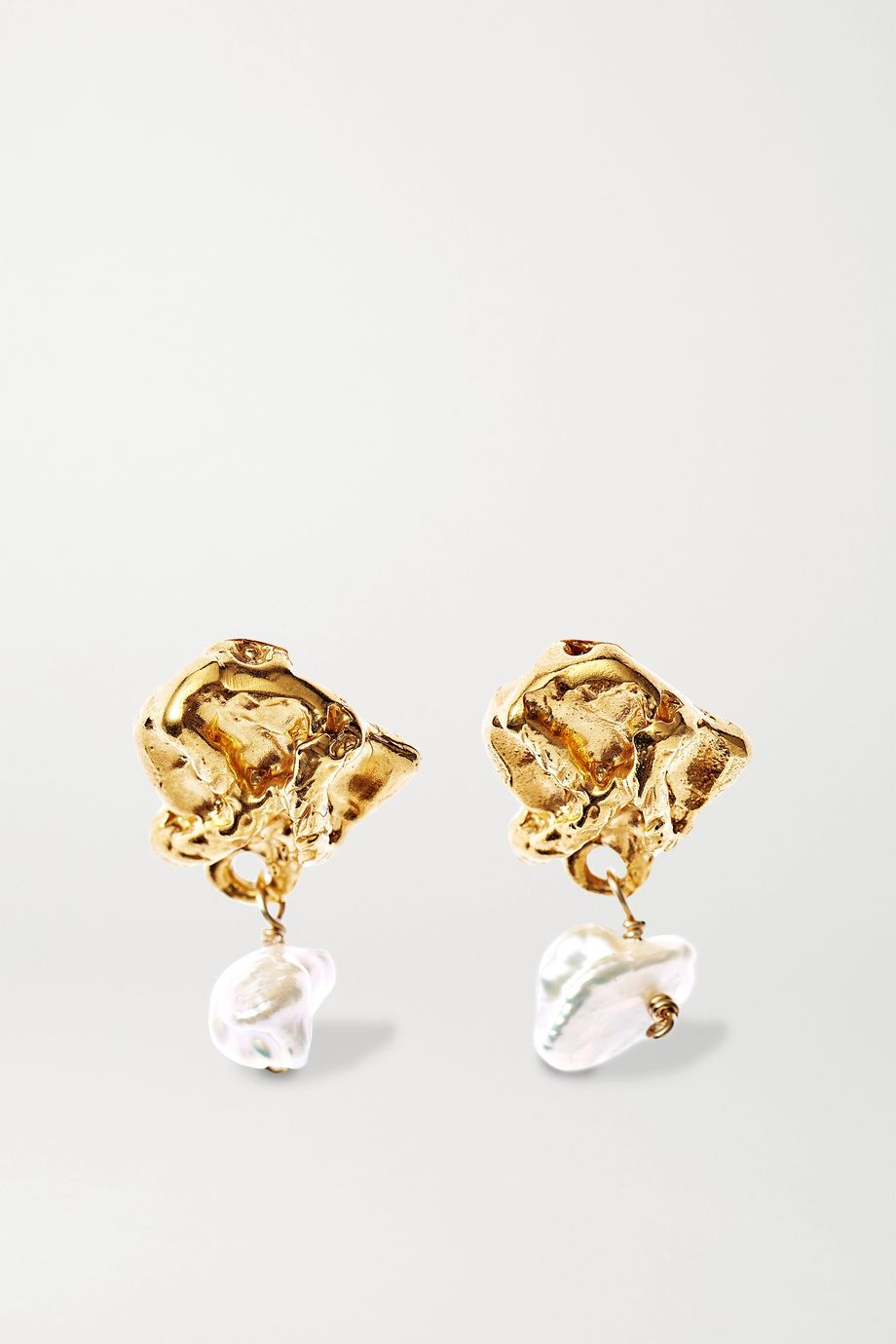 Alighieri Streaming Pearl gold-plated pearl earrings