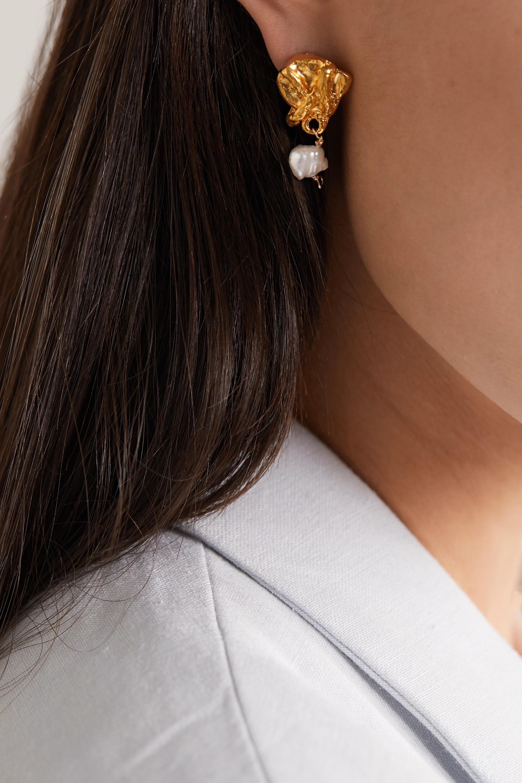 Alighieri Streaming Pearl gold-plated pearl earrings