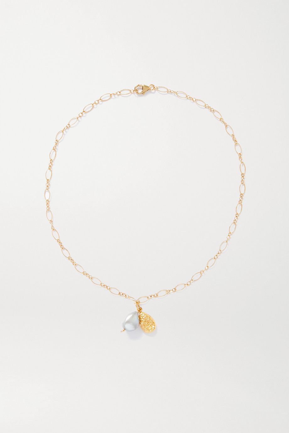 Alighieri Shadow and Pearl gold-plated pearl necklace
