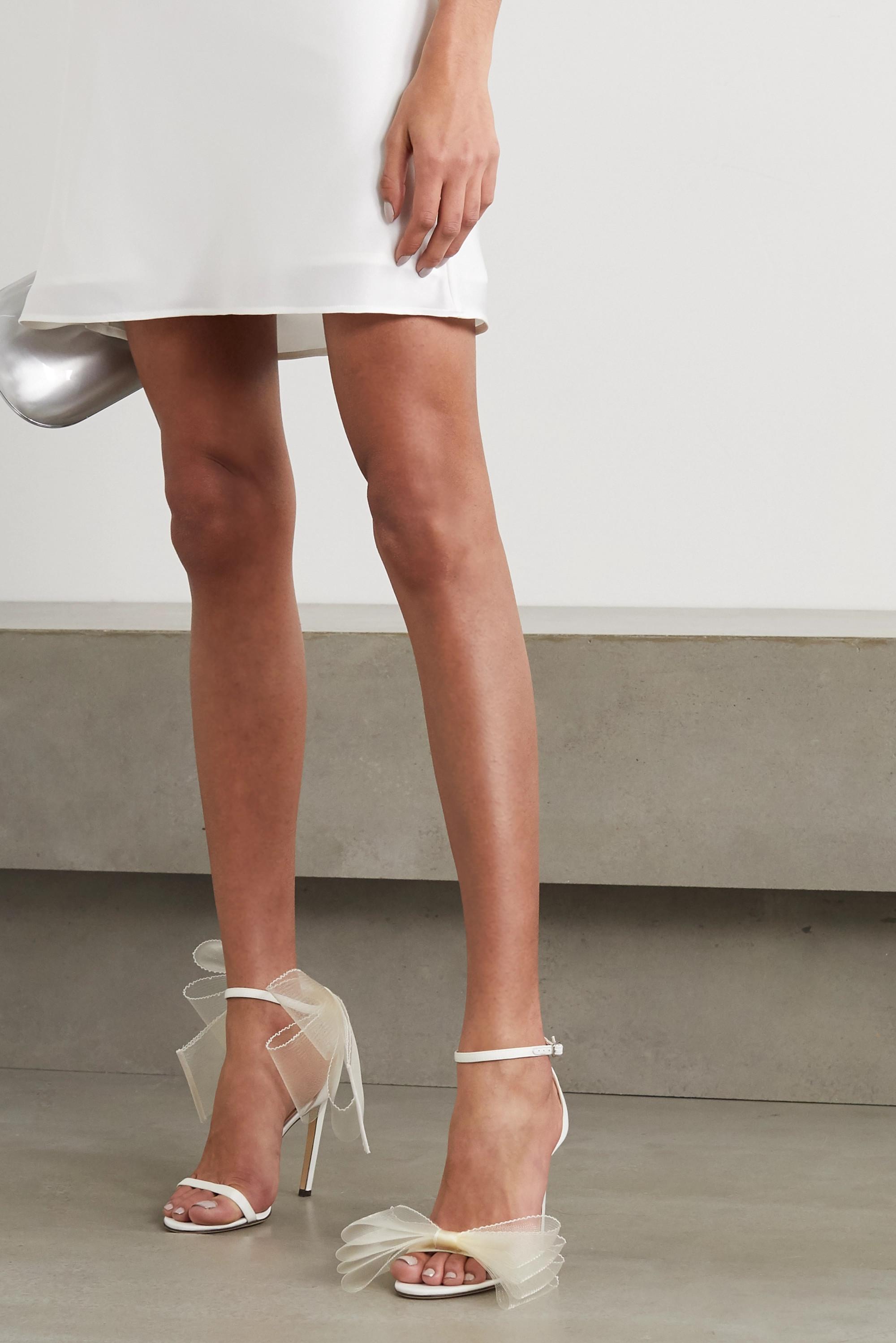 White Aveline 100 bow-embellished