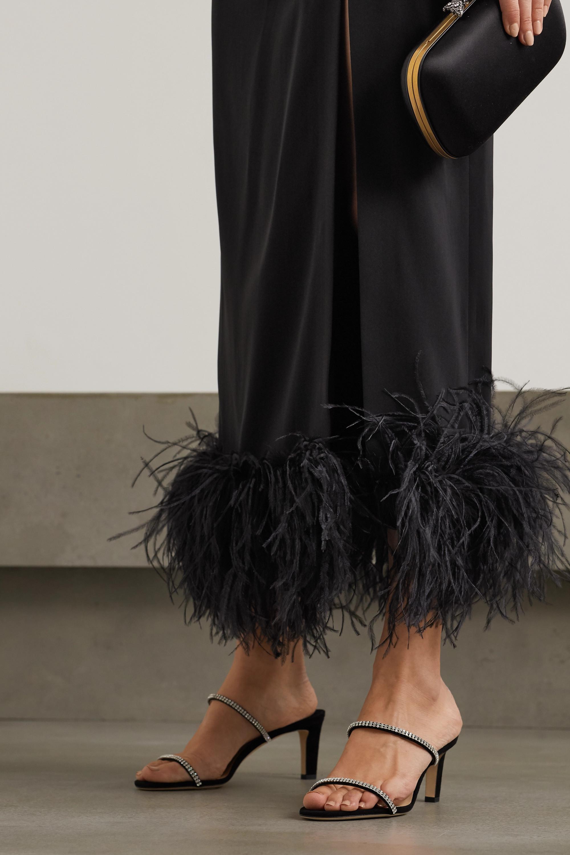 Jimmy Choo Brea 65 crystal-embellished suede sandals