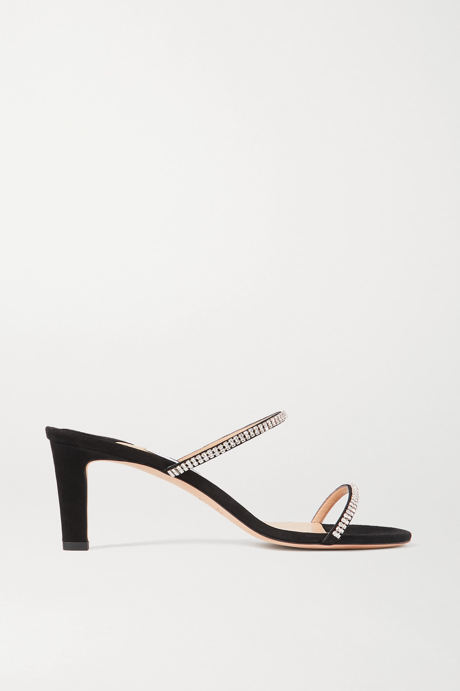 Jimmy Choo Brea 65 crystal-embellished suede sandals
