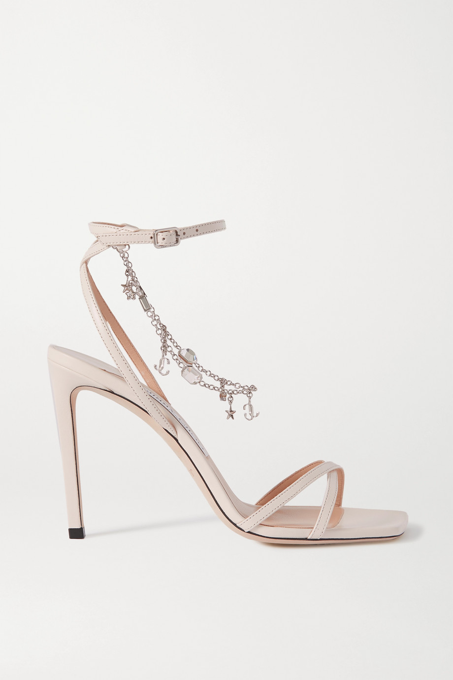 Jimmy Choo Metz 100 logo-embellished leather sandals