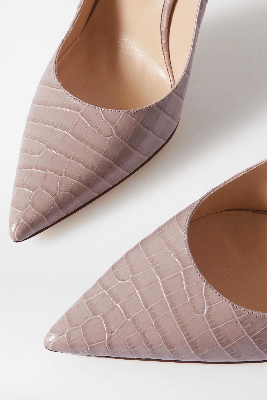 Jimmy Choo Love 100 croc-effect leather pumps