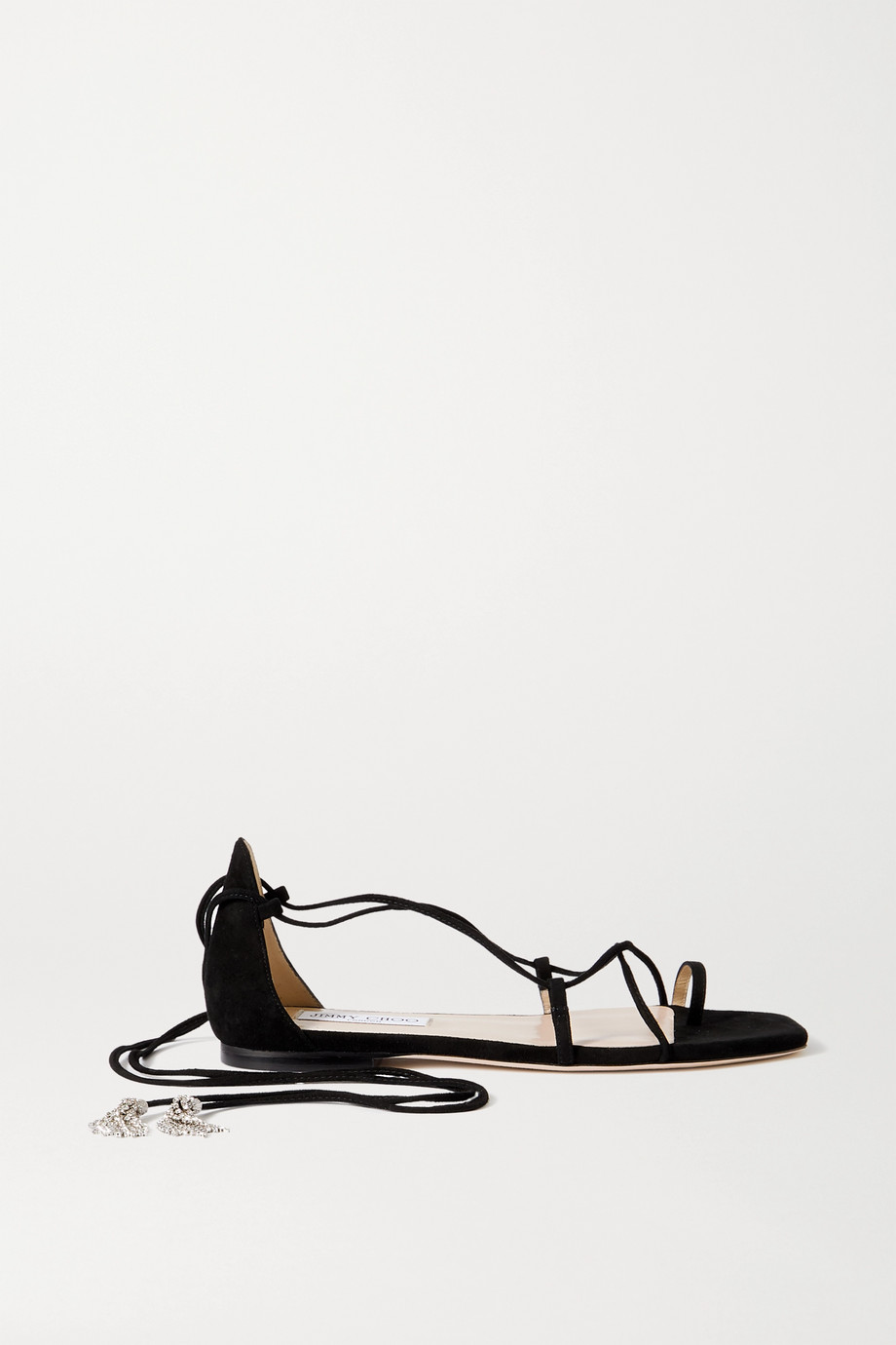Jimmy Choo Dusti crystal-embellished suede sandals