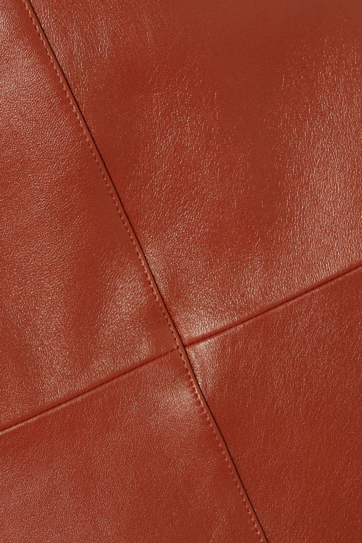 Joseph Sidena leather midi skirt