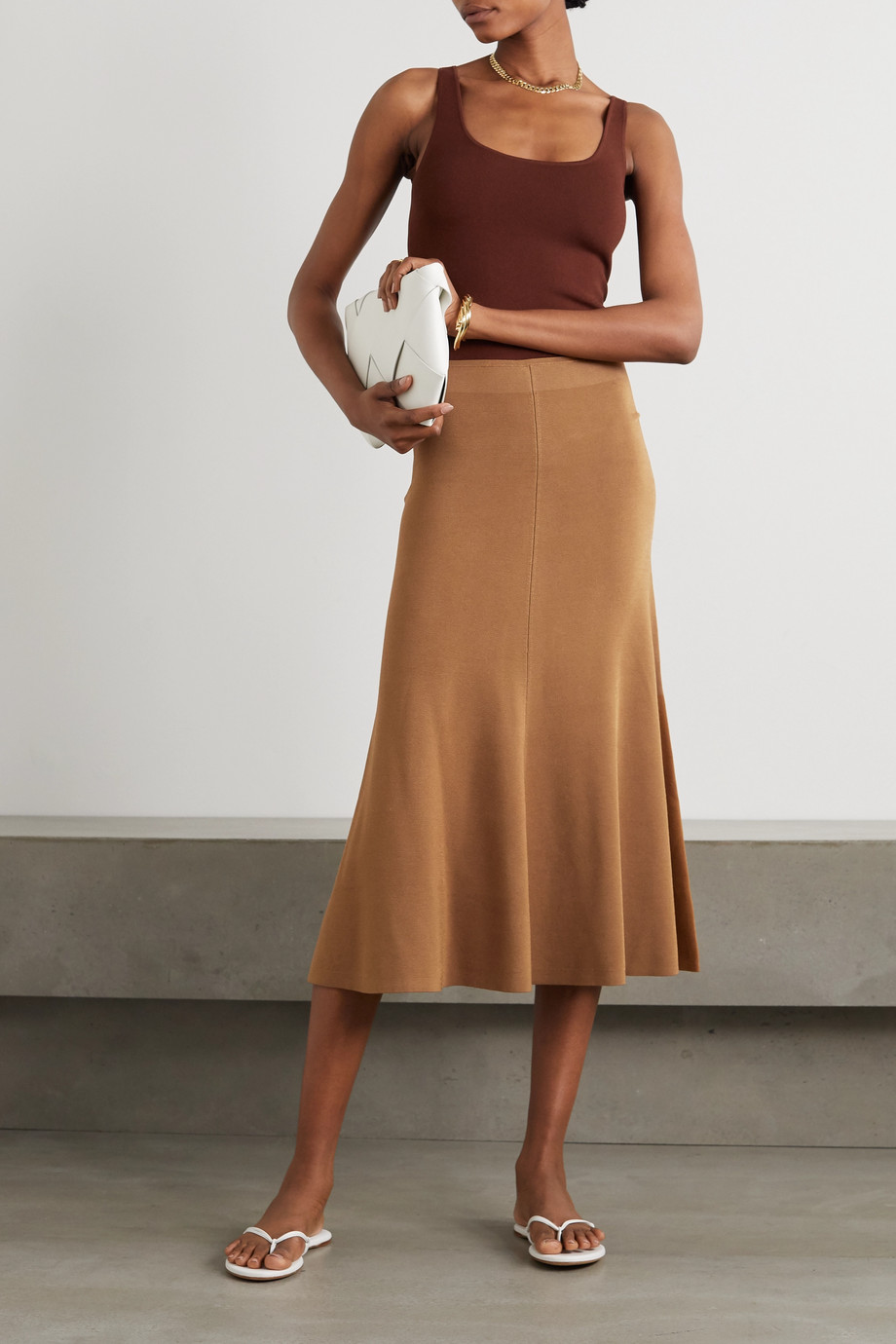 Joseph Stretch-knit midi skirt