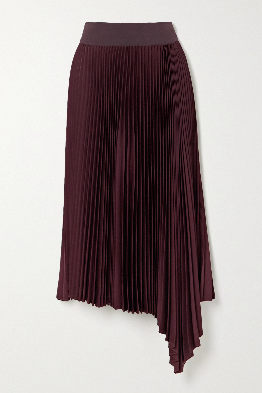 Joseph Asymmetric pleated crepe midi skirt