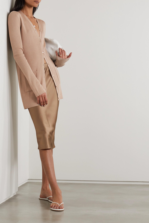 Joseph Ribbed merino wool and Lyocell-blend cardigan