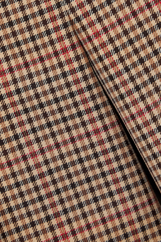 Joseph Travis checked wool-blend wide-leg pants