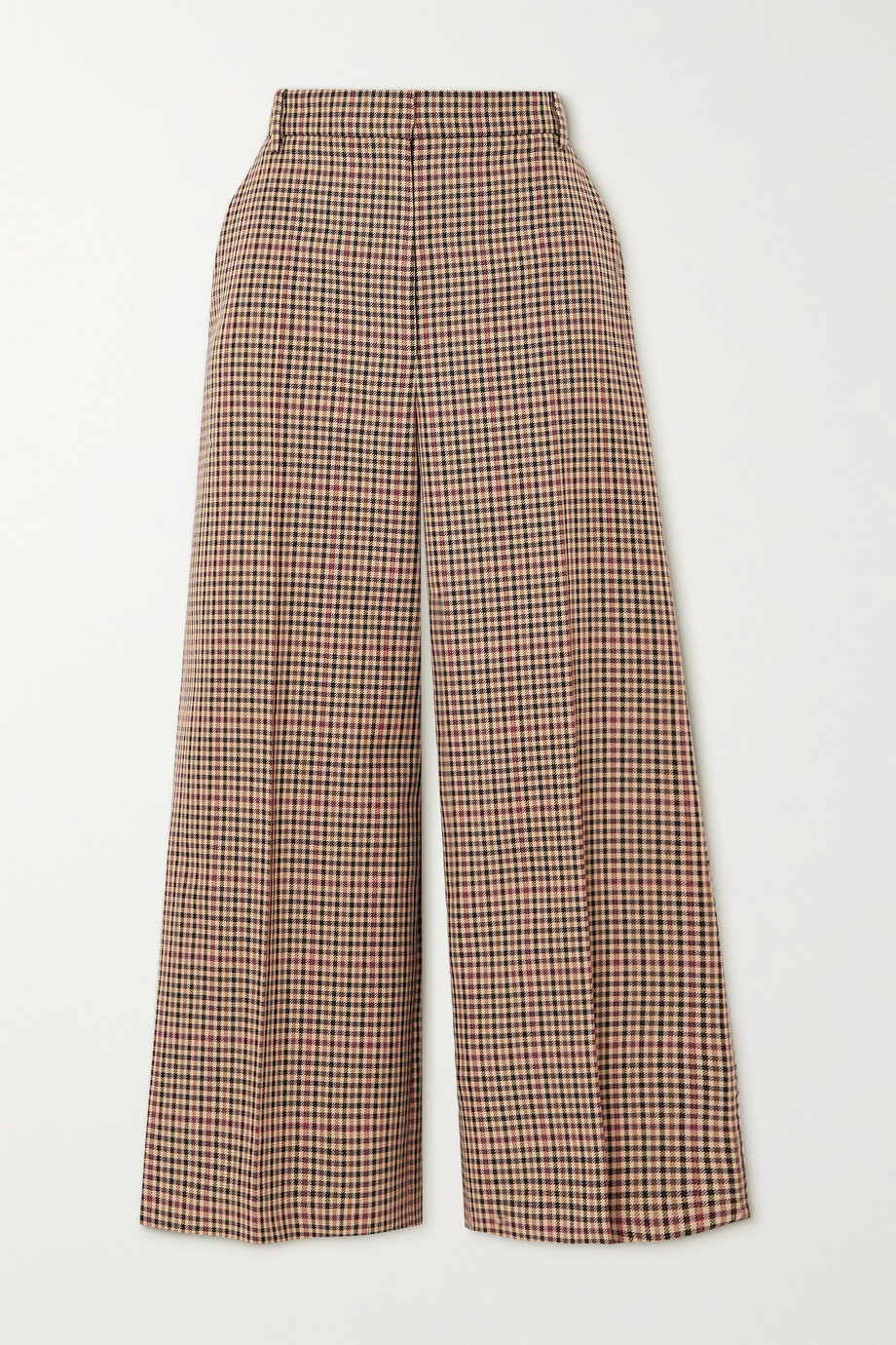 Joseph Travis checked wool-blend wide-leg pants