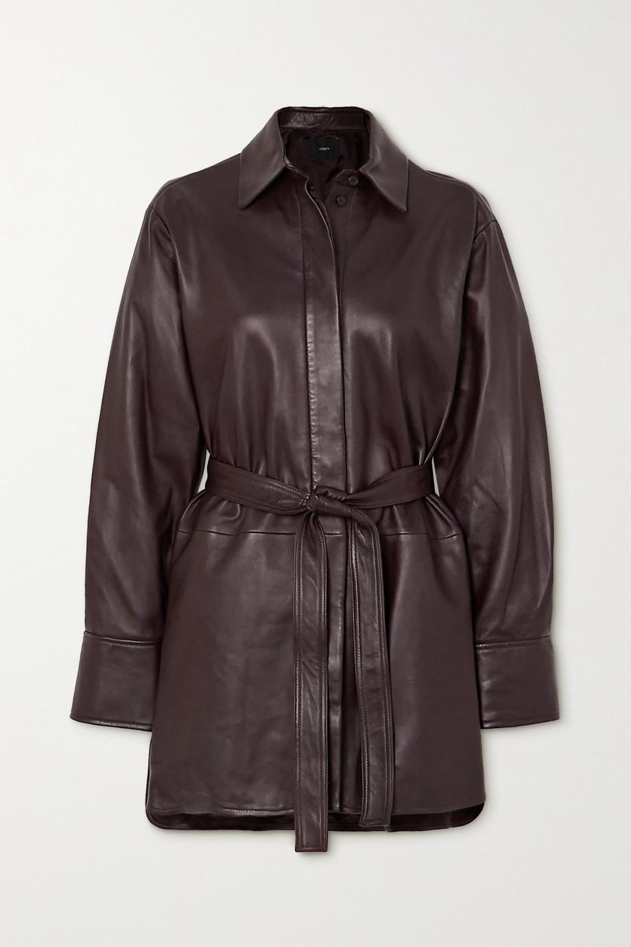 Joseph Belted leather jacket