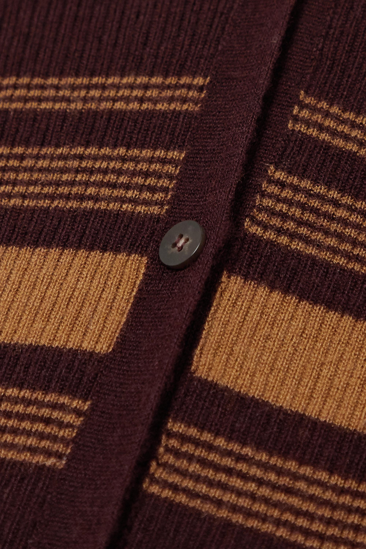 Joseph Striped ribbed cashmere cardigan