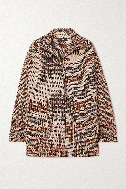 Joseph Calypso checked wool-blend jacket