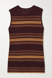 Joseph Striped ribbed cashmere tank
