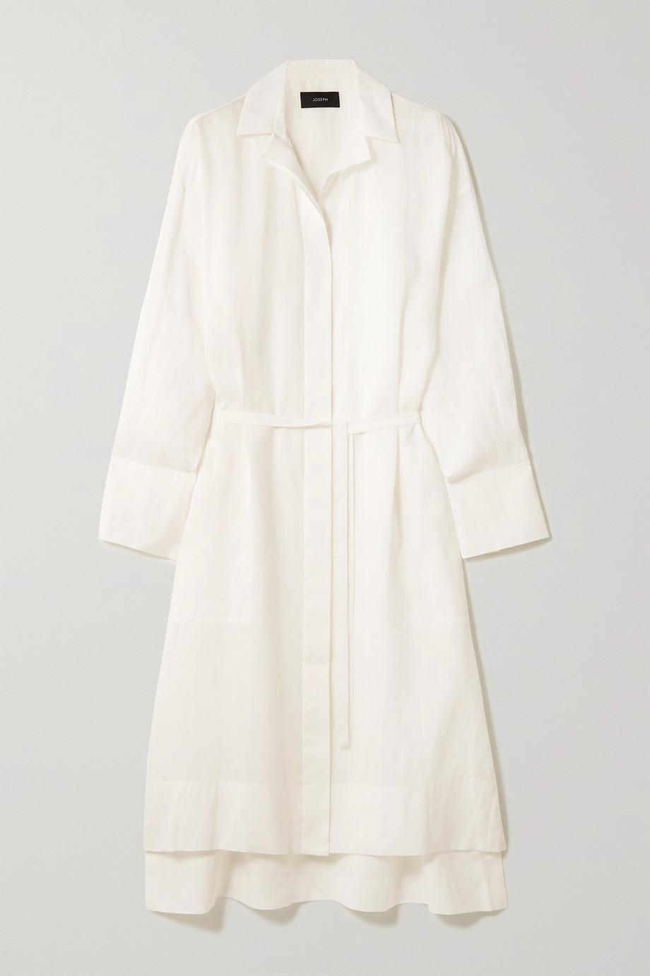 Joseph Daga Midi-Hemdblusenkleid aus Ramie