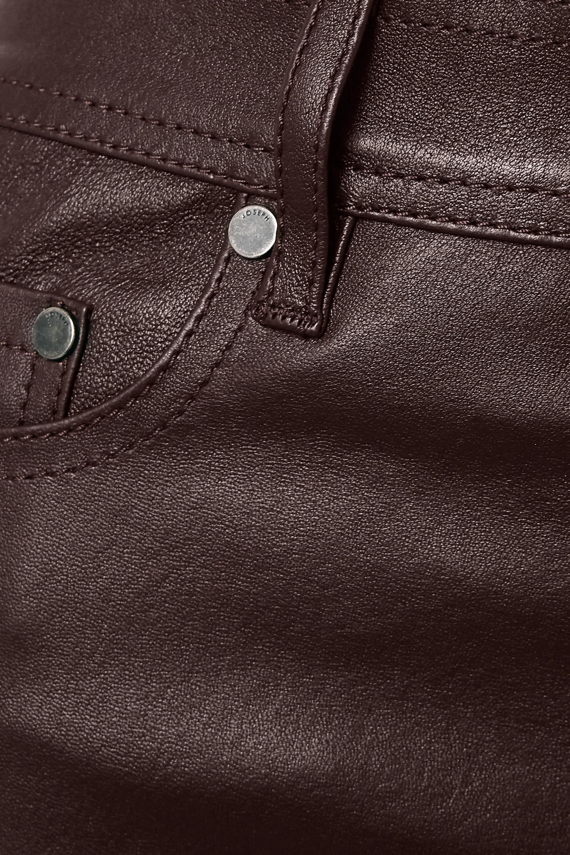 Joseph Den cropped leather straight-leg pants