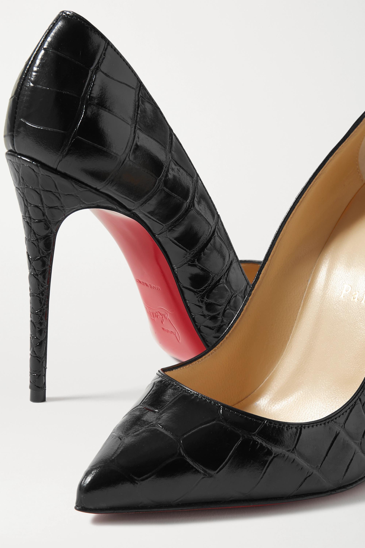 Christian Louboutin Pigalle Follies 100 croc-effect leather pumps