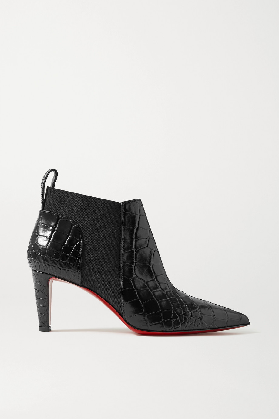Christian Louboutin Tchakaboot 70 croc-effect leather ankle boots