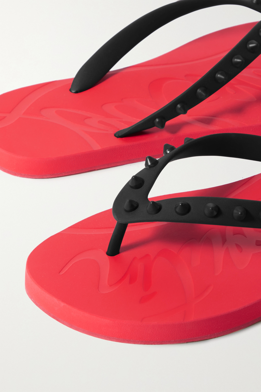 Christian Louboutin Donna spiked rubber flip flops