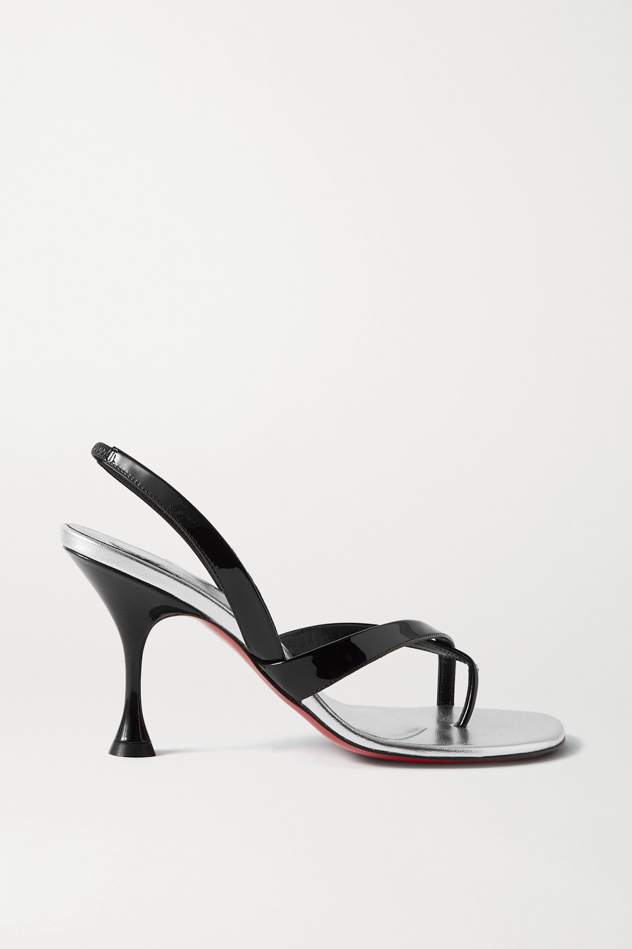 Christian Louboutin Taralita 85 patent-leather slingback sandals