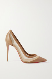 Christian Louboutin Galativi 100 leather and mesh pumps