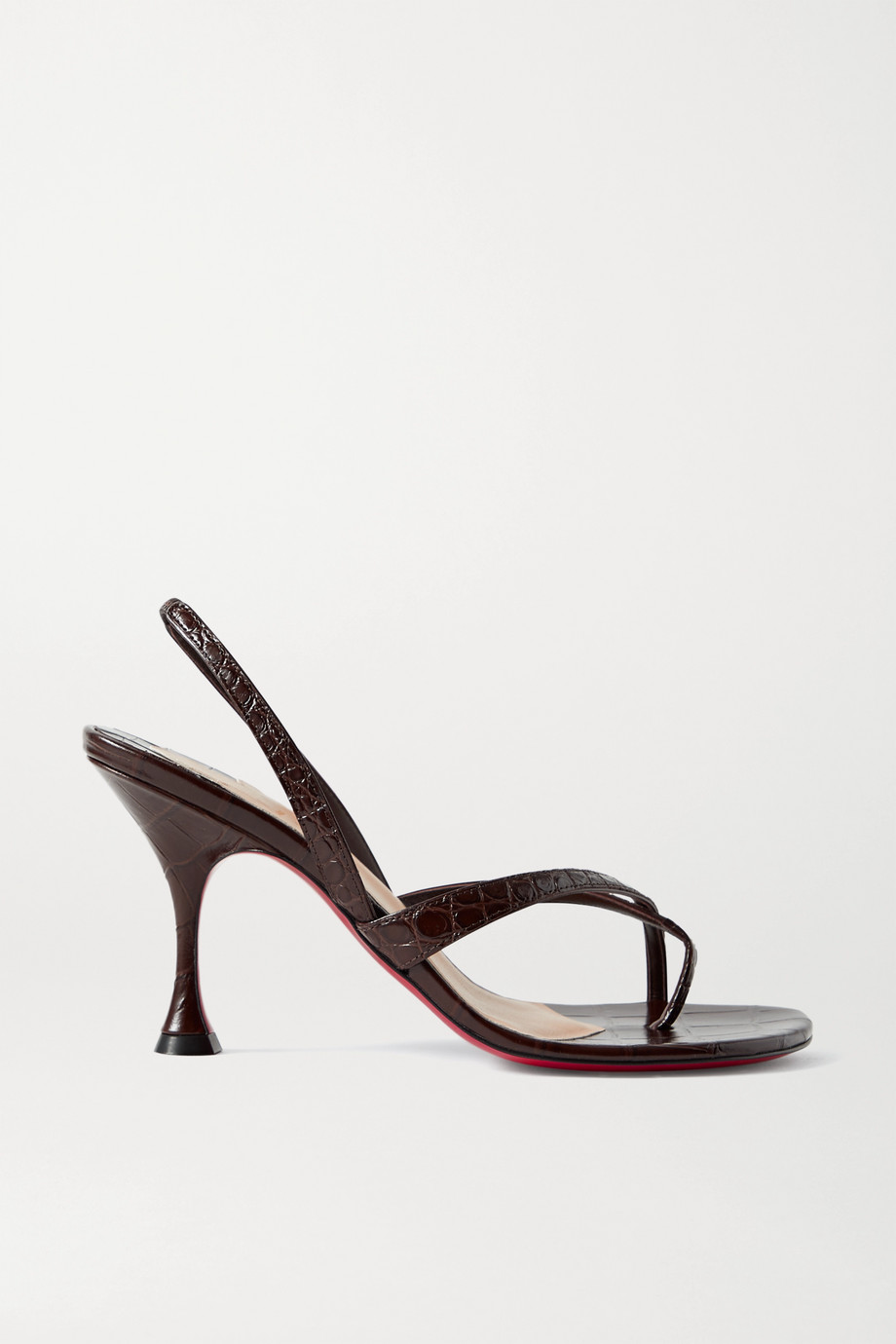 Christian Louboutin Taralita 85 croc-effect leather slingback sandals