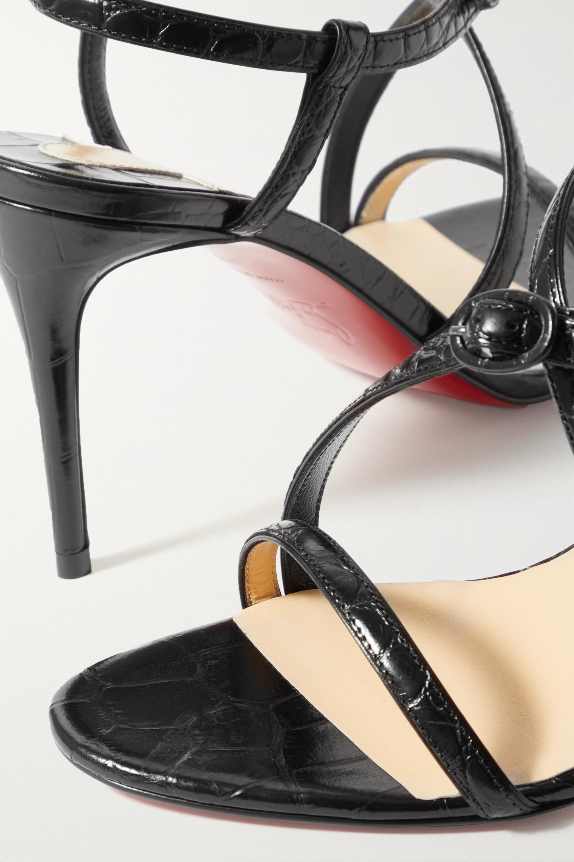 Christian Louboutin Selima 85 croc-effect leather sandals
