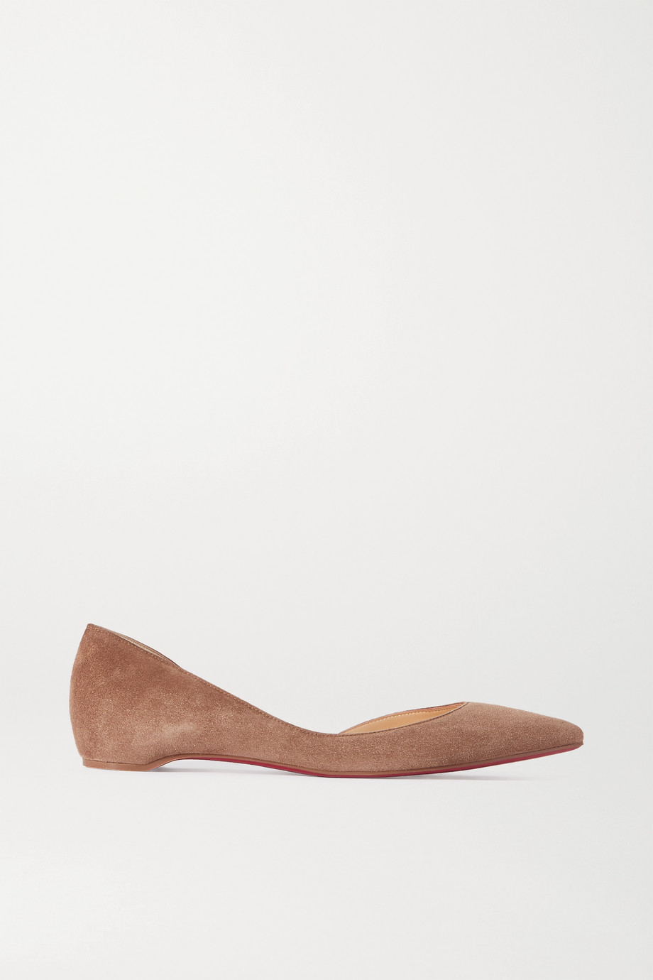 Christian Louboutin Iriza suede point-toe flats