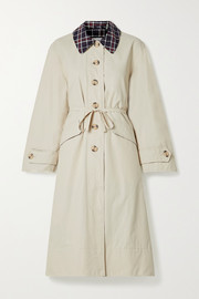 Barbour + ALEXACHUNG Glenda cotton-blend coat