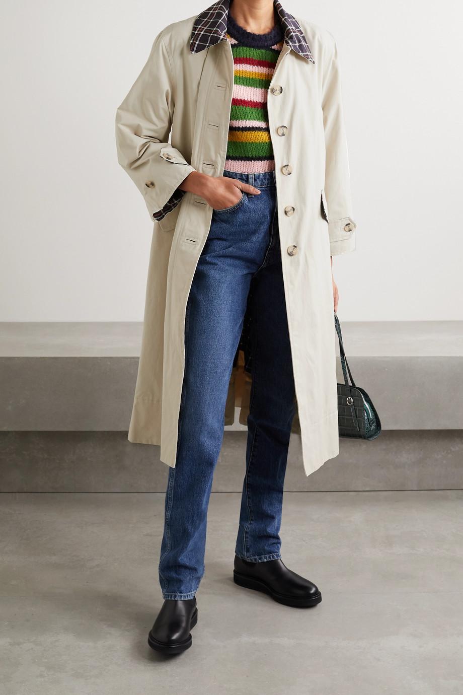 Barbour + ALEXACHUNG Glenda cotton-blend coat